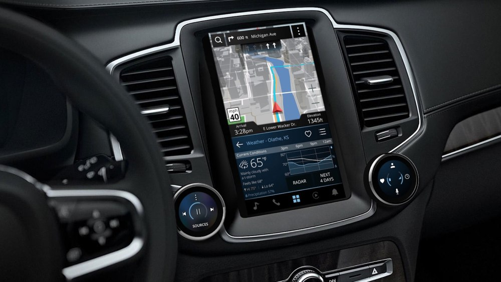 New for 2019 Volvo S60, V60 Interior Leaked by Garmin at CES