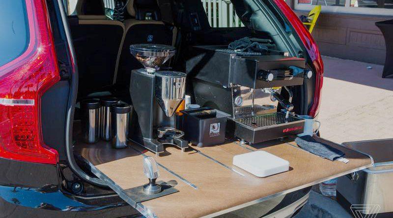 Volvo XC90 Converted into a mobile Espresso Bar