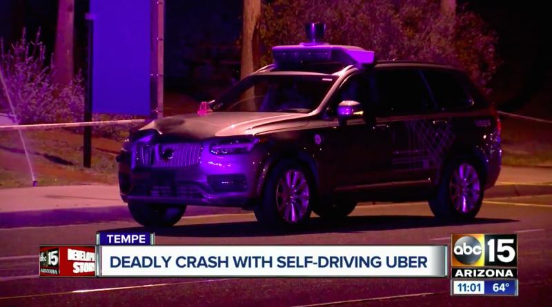 Uber Volvo XC90 crashes into Pedestrian in Arizona